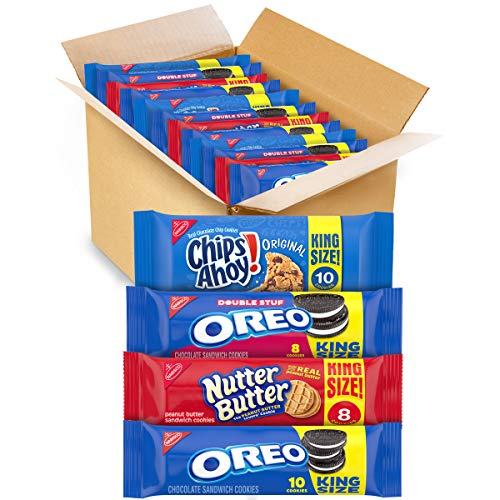 OREO Cookies, CHIPS AHOY Cookies and Nutter Butter Cookies Variety Pack, 12 King Size Packs