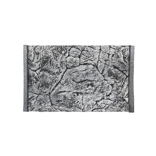 Décor de fond 3D pour aquarium Aspect ardoise Gris 50 x 30 / 47 x 26,5 cm