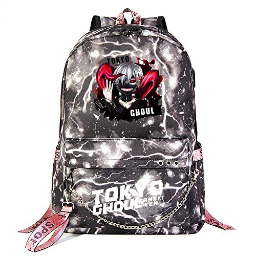 Anime Backpack Tokyo Ghoul Boys Girls Outdoor Backpack Travel Backpack Anime School Bag Daypack Shoulder Laptop Bag with