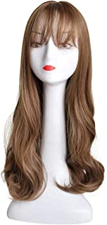 Hairpieces Hair Extension Brown Wig Wavy Soft Brown Root Lady Neutral Heat-Resistant Glueless Synthetic Wig Hair Weave