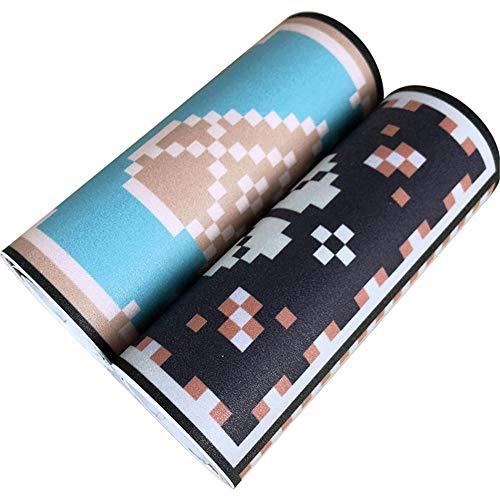 Borde del papel pintado Azulejos de píxeles Auto Adhesivo del Papel Pintado del PVC Cenefa autoadhesiva para decoración de pared de cocina baño 15 cm X 300 cm