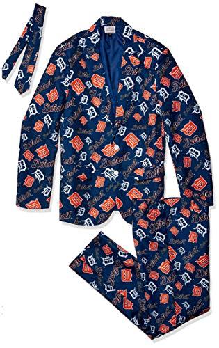 FOCO MLB Detroit Tigers Mens Repeat Ugly Business Suit - MENSREPEAT Ugly Business Suit - Mens, Team Color, XXL