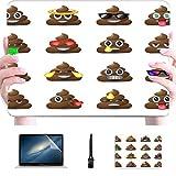 Funda Macbook Pro 15 Set Iconos de Mierda Símbolo de Caras sonrientes Carcasa Dura de plástico Compatible Mac Macbook Pro Accesorios de protección para Macbook con Alfombrilla de ratón