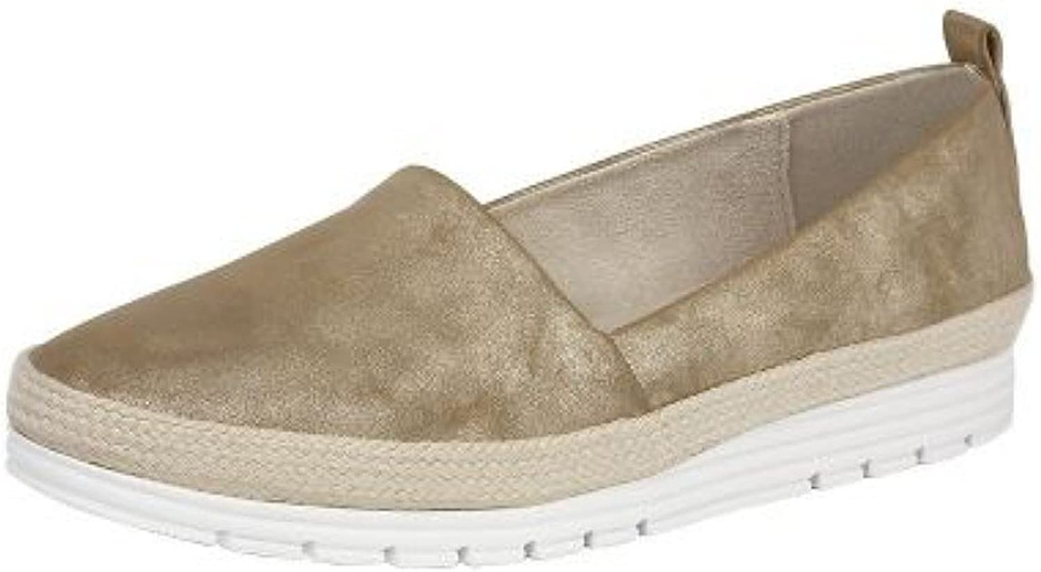 Cipriata Manuela gold Womens Side Gusset Casual Slip On shoes