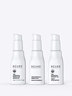 Sponsored Ad - Acure The Essentials Oil Starter Kit - 100% Vegan & For Any Skin & Hair Care Regimen, Includes Moroccan Arg...