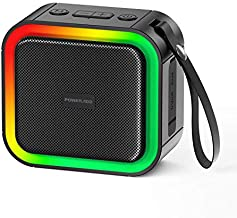 Portable Bluetooth Shower Speaker with HD Stereo/Rich Bass IPX7 Waterproof, Wireless Small Speaker with LED Light for Outdoor/Travel/Pool Beach/Bike, Support TF Card/TWS/AUX Mode, 12H Playtime, Black
