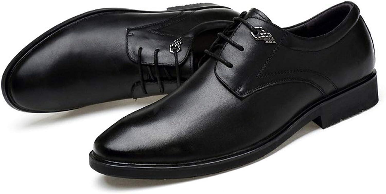 CATEDOT Men's Oxford shoes Leather Cap Toe Classic Formal Business Dress shoes for Men (color   Black, Size   10.5(M) US)