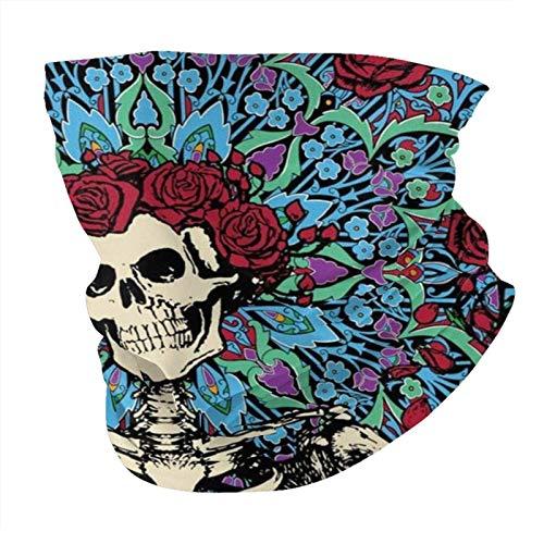 Grateful-Skull-Dead Unisex Reusable Headwear Outdoors For Men Women Face Scarf Multifunctional Dust Casual Neck Gaiter Warmer Printed Balaclava
