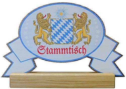 Kaltner Präsente Geschenkidee - Stammtisch Tisch Aufsteller aus Holz 27 x 13 cm