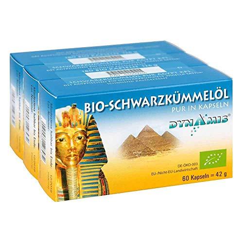 DYNAMIS Bio-Schwarzkümmelöl pur in Kapseln, 180 St. Kapseln
