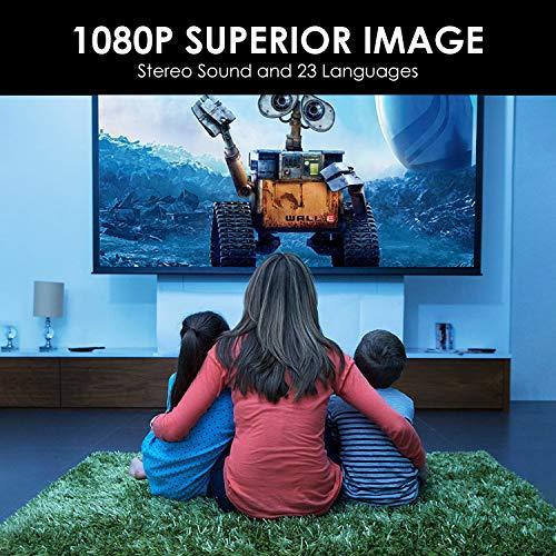 Mini proyector portátil HD LED Proyector L1 Compatible con Full 1080P Compatible con TV Stick / USB / AV / TF / HDMI / PS4 / Switch, Ideal para Cine en casa para niños, Familia (Amarillo) miniatura