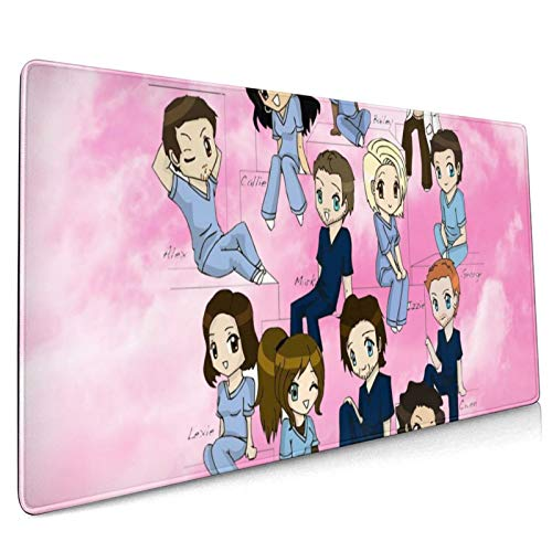 Grey's Anatomy Mouse Pad 15.8x35.5 in Anime Mouse Mat Larger Gaming Mouse Pad for Office & Gamer (40x90cm)