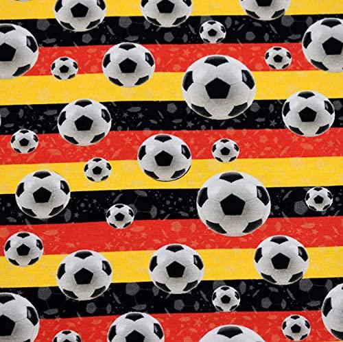 MAGAM-Stoffe Fussball Deutschland Jersey Kinder Stoff Oeko-Tex Meterware 50cm