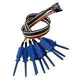 10 Piezas de Analizador Lógico de Cable Probe Test Hook Clip Line - Azul...