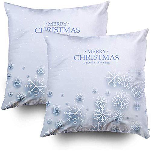 Sonder-Shop print kussen, kussenslopen bank vrolijke kerst sneeuwvlokken wensen bevroren kleuren symbolen lichtblauw sjabloon gooien kussen