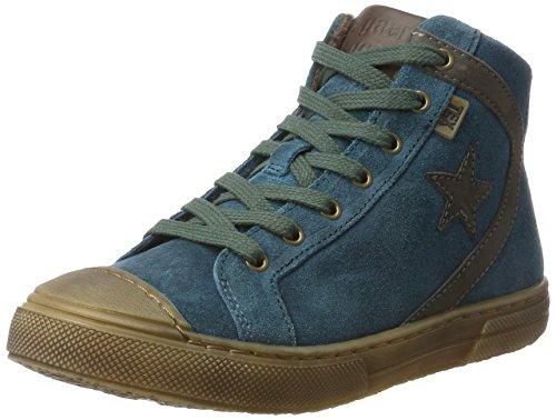 Bisgaard Unisex-Kinder Schnürschuhe Hohe Sneaker, Grün (1006-2 Petrolio), 35 EU