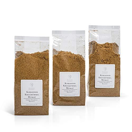 Boomers Gourmet - Gewürz Heilmittel Mischung aus Koriander, Kreuzkümmel, Muskat - 390 g
