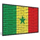 Poster mit Rahmen flag Senegal - Senegal-Flagge in Form von