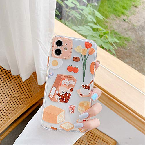SSICA Funny Cute Cartoon Phone Case For iphone 11 Pro Max 7 8 plus X XR XS Max se 2020 Back Cover Fashion Transparent Soft Cases Coque For iphone11Pro Max CW31-2