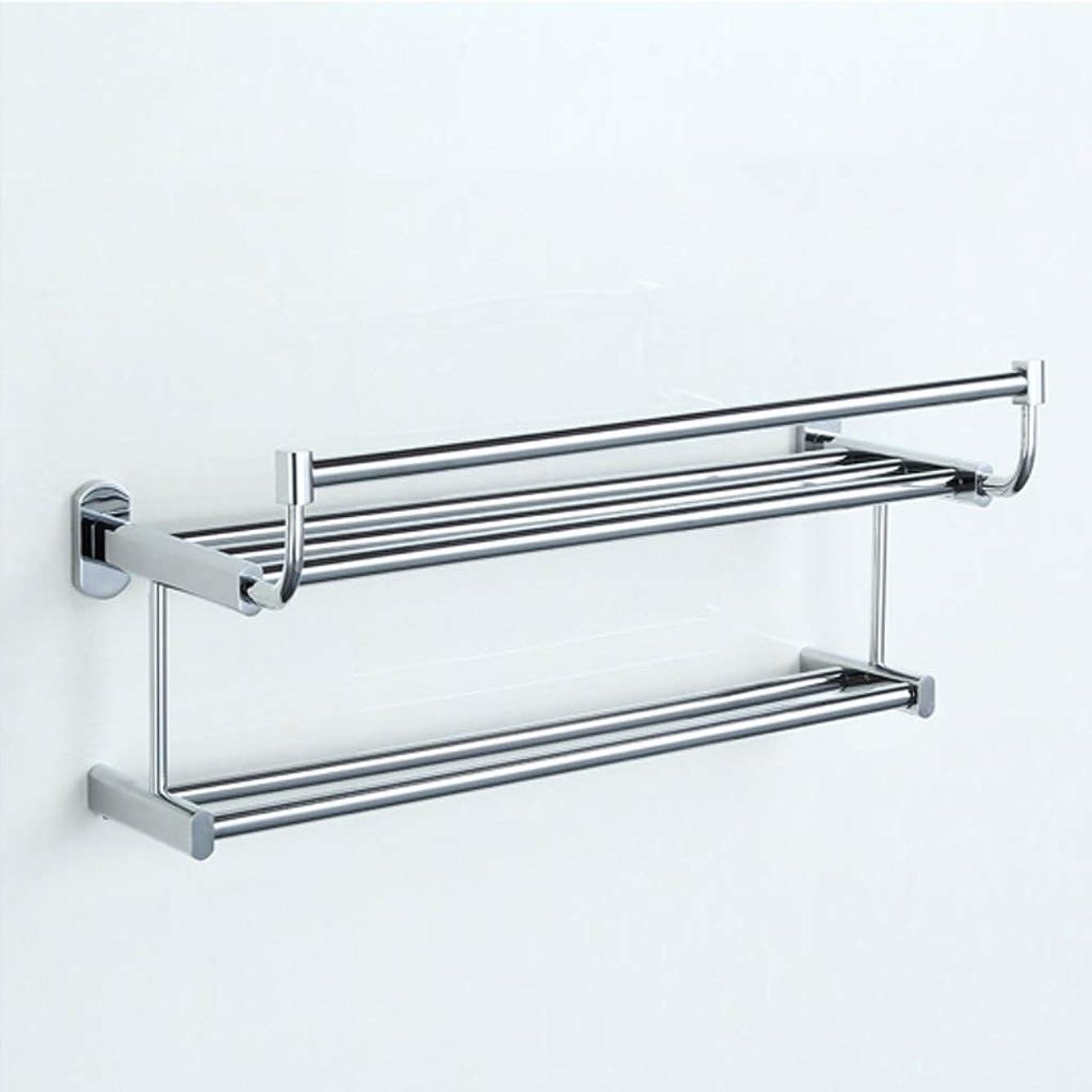 相反する不利書き込み純銅製ダブルタオルラックタオルラック浴室ハードウェアアクセサリ