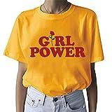BLACKMYTH Graphic Funny T Shirt Cute Tops Teen Girl Tees Yellow Medium