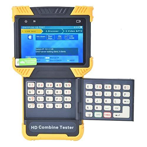 【𝐑𝐞𝐠𝐚𝐥𝐨】 Simlug CCTV Tester, Network HD Tester, AC100-240V 4.0 Pulgadas TFT 1080P Digital HD Combine Tester CCTV Tester IP Analog Camera Tester - Productos, montón de Basura(EU)