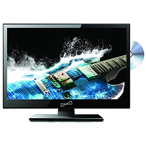 SuperSonic SC-1512 LED Widescreen HDTV & Monitor 15.6', Built-in DVD Player with HDMI, USB, SD &...
