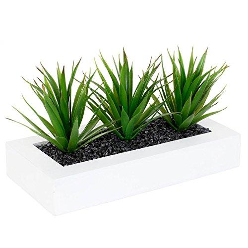 Atmosphera Centre de Table 3 Aloe Vera artificielles - H. 17 cm