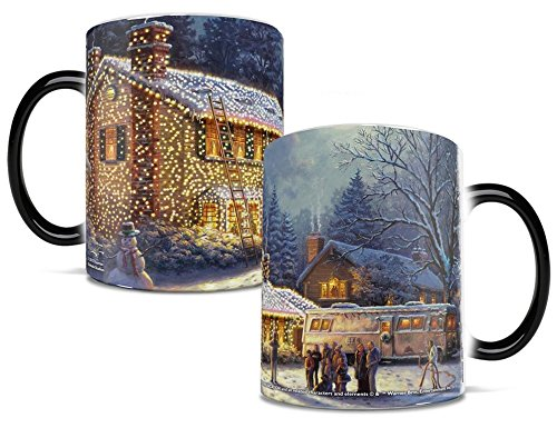 National Lampoon s Christmas Vacation - Griswold House - One 11 oz Morphing Mugs Color Changing Heat Sensitive Ceramic Mug – Image Revealed When HOT Liquid Is Added!