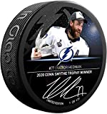 Victor Hedman Tampa Bay Lightning Autographed Fanatics Exclusive 2020 Conn Smythe Trophy Winner Hockey Puck - Limited Edition of 177 - Autographed NHL Pucks