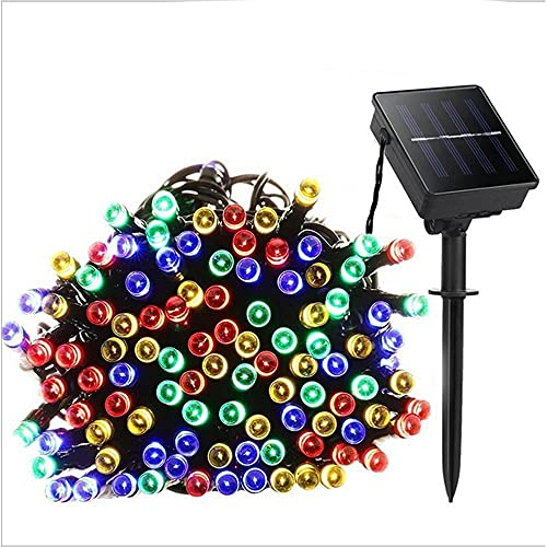 TreeLeaff Garden Solar Lights Outdoor, 100 LED Solar Crystal Ball Fairy Lights 16ft Waterproof 8 Modes Decorative Fairy Lights for Tree, Patio, Garden, Yard, Home, Wedding, Party