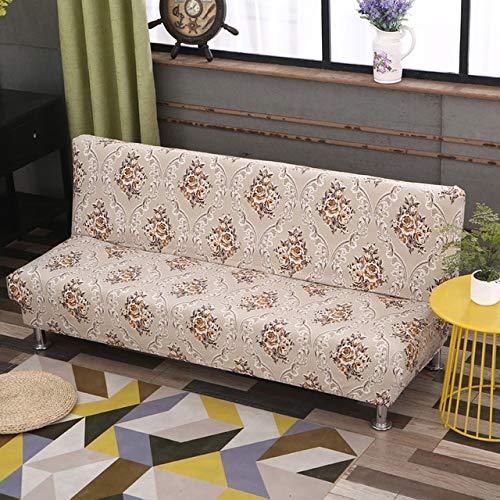 Funda de sofá Cama sin Brazos Universal Funda de Asiento Plegable Fundas elásticas Modernas Protector de sofá Funda de Banco de futón elástico 160-190cm 5827