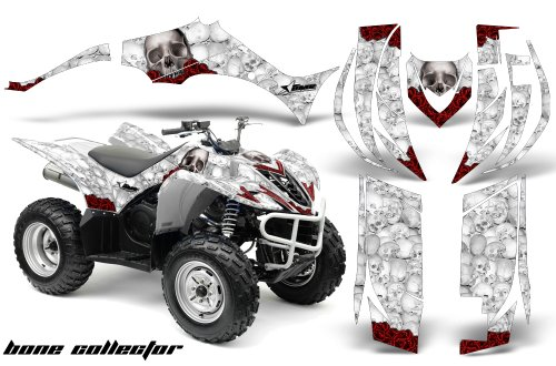 Yamaha Wolverine 450 2006-2012 ATV All Terrain Vehicle AMR Racing Graphic Kit Decal BONE COLLECTOR WHITE