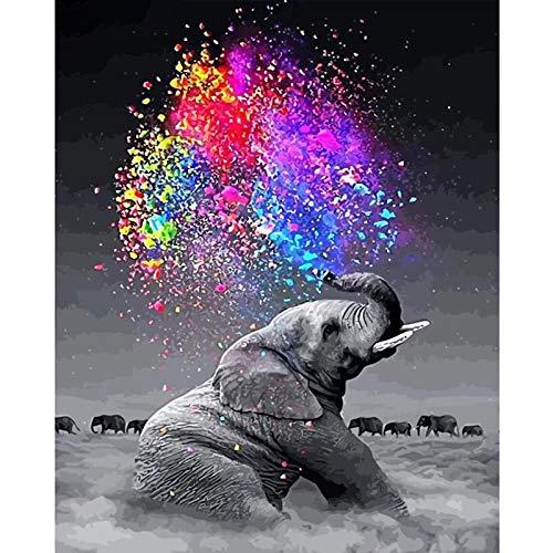 Puosike Malen Nach Zahlen Erwachsene Kinder Anfänger, DIY Paint by Numbers Kits, Handbemaltes kreatives Ölmalwerkzeugzubehör für Home Wall Décor (Rahmenlos)