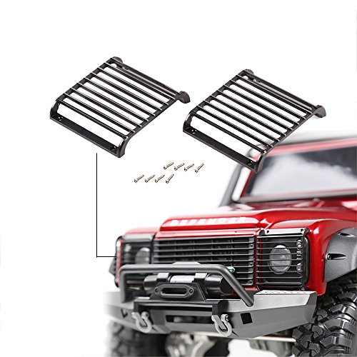 INJORA RC Scheinwerfer Gitter RC LED Light Guards Grille 2pcs Lampe Guard Light Cover für 1:10 RC Crawler Traxxas TRX-4 T4