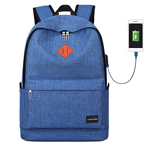 School Backpack, Water Resistant Student Laptop Bookbag for Teen Boys and Girls