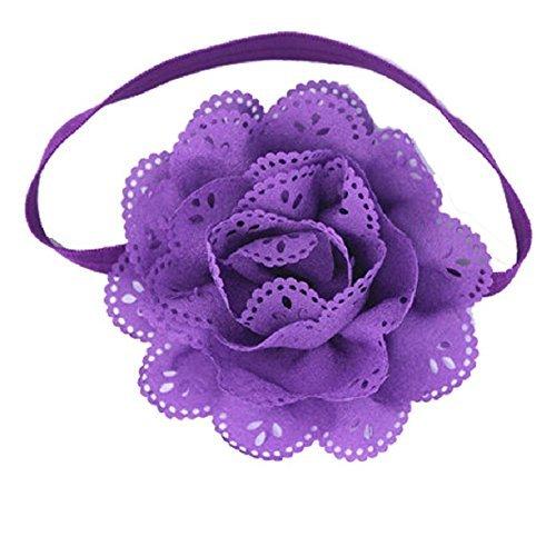 Demarkt Bandeau de Décoration Fleur Bébé Elastique Multicolore 8PCS