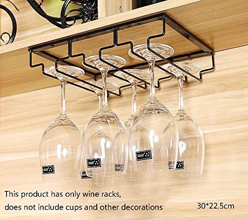 JIAHE115 Wijnrek Zwart ijzeren wijnrek wijnrek wijnhouder bekerhouder, multifunctionele barkast kasten keukenaccessoires, bar, restaurant