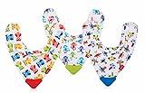 Nuby ID4290 - Babero bandana con mordedor en el borde (surtido: modelos/colores...