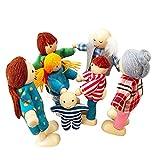 Casa de muñecas Juego Familiar de muñecas,Mini Figuras de Personas Juego de muñecas,Juego de la Familia de muñecas Set ,Regalo o Familia Urbana de muñecas de Madera,Juguetes preescolares para niños
