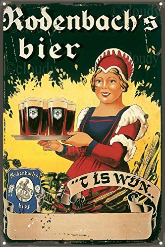 Maufu Rodenbach's Bier Zinnschild Wanddekoration Retro Industriestil Wohnzimmer Bar Kreative Dekoration Verwandte Und Freunde Geburtstagsgeschenke