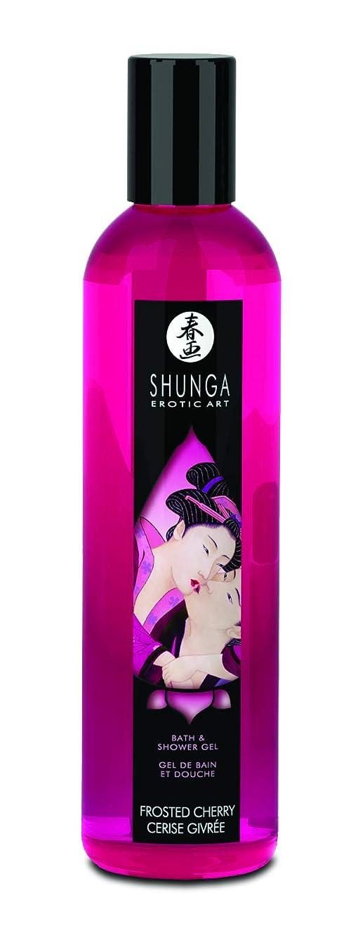 危険にさらされている恥ずかしい篭Shower Gel Frosted Cherry 8oz. by Shunga