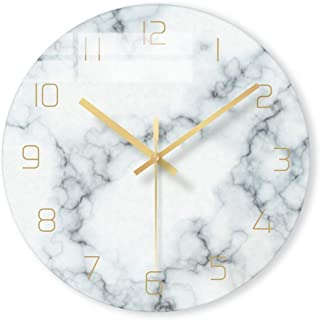 AMOY TANG Art Veins Deco Marble Wall Clock for Office, Home, Bedroom