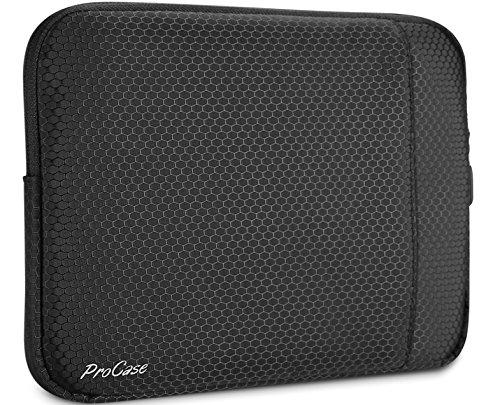 ProCase Funda Compacta para Tableta 9.7'-10.5', Bolsa Protectora Blanda para iPad 10.2/9.7, Air 10.5'/Air 2, Pro 11/10.5/9.7, iPad 2 3 4, Surface Go, Galaxy Tab 10.1' -Negro