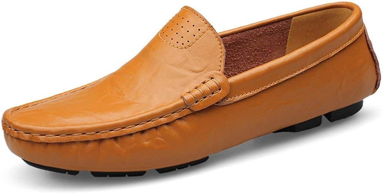 HhGold Jungen Männer Breathable braun Mokassins Mokassins Mokassins Casual Penny Loafers UK 10 (Farbe   -, Größe   -)  bba900