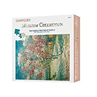 古典的な有名な絵の紙のパズル- 2000ピースのパズルのおもちゃ - 桃の花、風景絵画アート解凍おもちゃ大人のティーンDIY紙パズルおもちゃの家の装飾(* 70センチメートル100)