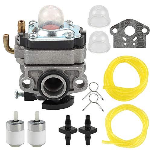 753-1225 753-04745 Carburetor for MTD Troy Bilt TB415CS TB425CS TB465SS Trimmer Ryobi 650r 825r 825RA Yard Man YM21SS YM26SS Bolens BL26BC Brush Cutter with Fuel Line Filter