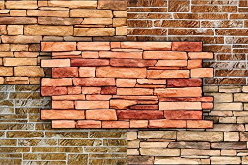 3D Wandpaneele Restposten! - große Auswahl von stabilen und pflegeleichten PVC Platten - zur Wandverkleidung z. B. als Küchenrückwand - 1 Platte (GREENSTONE SLATE)