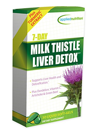 Applied Nutrition 7-Day Milk Thistle Liver Detox, 30 Count