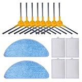 KEEPOW, 14 pezzi di ricambio accessori adatti per aspirapolvere Proscenic 830T 820S 820T 800T, filtro di ricambio e spazzole laterali